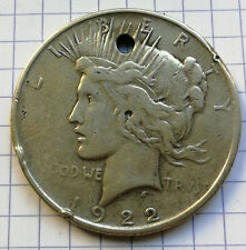 USA PIECE Monnaie 1 eagle PEACE DOLLAR 1922 argent silver Etats-Unis AG 0