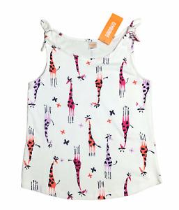 Gymboree Mix N Match Giraffe & Butterflies Bow Knot Tank Top Shirt Sz 7-8 NWT