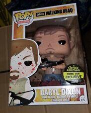 "RARE Funko Pop Walking Dead 9"" BLOODY Daryl Dixon Toy Tokyo Comic Con LE 300"