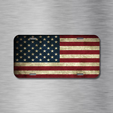Vintage American Flag Vehicle License Plate Auto Car Tag USA America