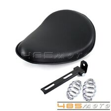 """Motorcycle Artficial Leather Solo Seat 3""""Spring Bracket Mount Kit For Harley New"""