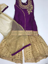 $35  Deal Wedding  Party wear  Girls Sharara Suit Set Indian Size 34 fits 10-11