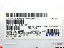 C0805C102M5Ractu Kemet Smd Cap Cer 1000Pf 50V X7R 0805 4000 Pieces