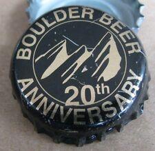 BOULDER BEER 20TH ANNIVERSARY  BOULDER CO MICRO CRAFT BEER BOTTLE CAP