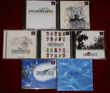 PS1 FINAL FANTASY COLLECTION TACTICS I IV V VI VII INTERNATIONAL 1 4 5 6 7 Japan