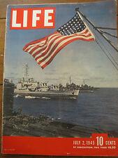 LIFE July 2 1945  Eisenhower 1945 homecoming, Guam, Queen Mary, Mondrian, Hitler