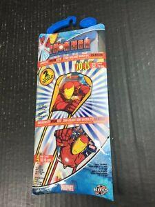 Marvel IRON MAN Minifoil Nylon Flying KITE 21 inch 65 feet line NEW OOP