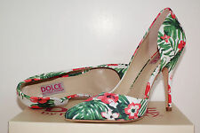 Dolce by Mojo Moxy Tracy Sz 8 Heels, Pumps, Shoes, White Orange&Green Floral NIB