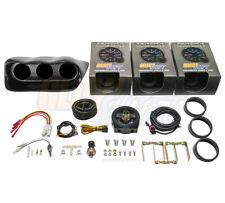 GlowShift Boost Oil Pressure Oil Temp Gauges + Dash Pod for 02-07 Subaru Wrx
