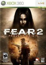 Fear 2 Project Origin Xbox 360 Game Complete F E A R II Scary Horror Thriller