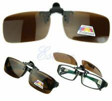 Clip-on TAC Driving Polarized Glasses Lens Sunglasses Frameless Medium Brown