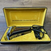 Vintage Sunbeam Groomer Razor 8000 Original Cord and Case With Instructions