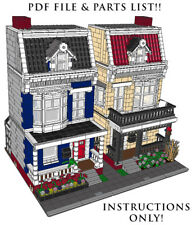 Lego Custom 2 Modular Buildings house #2 INSTRUCTIONS!