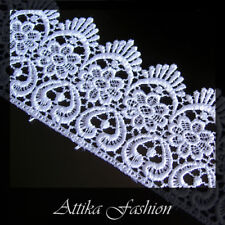 Swiss Designer --- Silky Snow White Lace Trim *per yard*