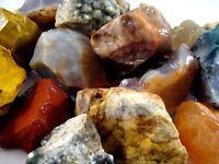 AGATE AND JASPER MIX Rough Rocks - 1 Lb Lots - Tumbling, Crafts, Cabbing, NICE