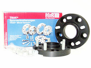 H&R 20mm DRM Bolt-On Wheel Spacers for Nissan (5x114.3/66.2/12x1.25/Black)