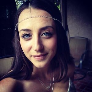 Gypsy Style Sterling Silver Rainbow Moonstone Wedding Head Chain/ Chakra Chain