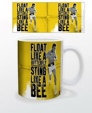 ALI FLOAT YELLOW 11 OZ MUG BOXING ICON ACTIVIST SPORTS FIGHTING KENTUCKY INSPIRE