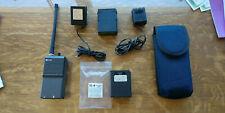 Aviation handheld radio Delcom VHF transceiver, two battery packs, works well