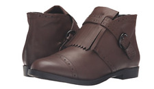 NEW ROCKET DOG ROMAR FLAP ANKLE BOOTS BOOTIES BROWN WOMENS 6