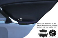 PURPLE STITCH 2X REAR DOOR CARD TRIM LEATHER COVERS FITS LEXUS IS200 IS220 06-12