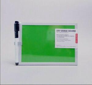Kikkerland Magnetic Whiteboard Dry Eraer  Message Board Organiser Green