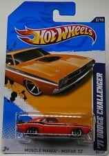 Hot Wheels - '71 Dodge Challenger (Orange) - Muscle Mania, Mopar 12 - 2/10