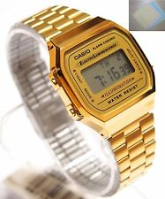 CASIO Digital Watch Retro 80s Vintage A168WG-9 A168WGA 100% Original + Gift