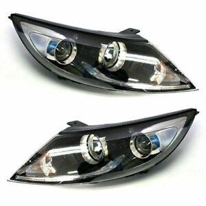 New Genuine OEM Projection LED Head Light Lamp LH RH Set for Kia Sportage 11-16