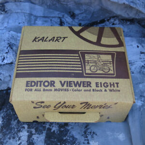 Kalart 8mm Film Movie Editor Viewer Eight - Original Box