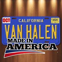 Van Halen  Eddie Van Halen Aluminum License Plate Tag Blue California