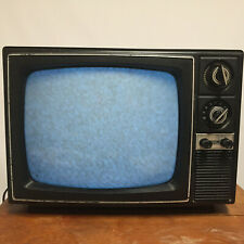 Vintage Mid Century Wood Grain Sears TV Television Small Decor Retro Atomic Soli
