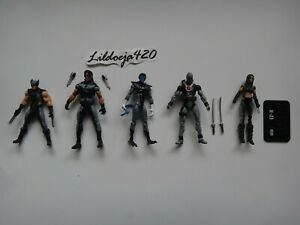 Marvel Universe 3.75 X Force lot Wolverine Deadpool Nightcrawler X23 Warpath