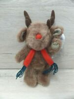 SALCO LITTLE MEADOW BROWN VINTAGE REINDEER PLUSH TOY