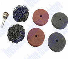 "2"" Paint Conditioning Stripping Abrasive Flex Wheel Rust Remover Sander Disc Kit"