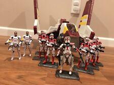 Star Wars The Clone Wars Republic Attack Shuttle; Clone Trooper Lot