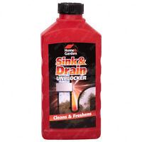 Sink & Drain Unblocker Cleaner Liquid Kitchen Bathroom Plug Hole Opener 1L