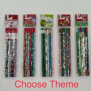 Christmas Wooden Pencils 6pk Grinch Peanuts Rudolph Elf Shelf Stocking Stuffers