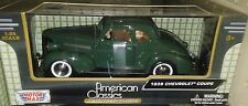 1939 Chevy Coupe Die-cast Car 1:24 Motormax 8 inch Green