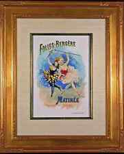 Folies Bergère Original Color Lithograph from 1897