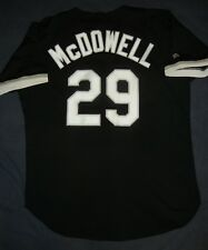 JACK MCDOWELL AUTHENTIC Russell Athletic CHICAGO WHITE SOX Black Jersey 48 XL