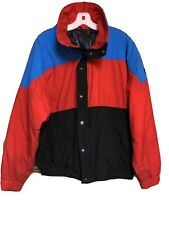 Vintage 1987 CB Sports Gore-Tex Color block Jacket Red Black Blue Mens XL 27S321