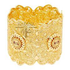 Luxus XXL Armreif Orientalischer Armband Manchette Gelbgold Pl. Paris Braut