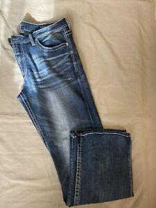 Salvage Mayhem By Buckle Jeans Men's Sz 36x32  Regular Bootcut  Dark Wash 36R