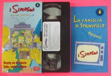VHS film I SIMPSON 6 PRIMA STAGIONE  Krusty va al fresco Sola senza(F107*)no dvd