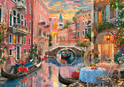 FRAMED CANVAS ART PRINT ITALY ROMANTIC VENICE CANAL EVENING SUNSET OUTDOOR CAFE