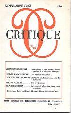 revue critique minuit novembre 1968 N°258
