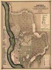 Mappa antica 1898 kononova TOMSK CITY piano CIRILLICO REPLICA poster stampa pam2002