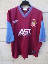 VINTAGE Maillot ASTON VILLA Reebok shirt ancien n°15 XL 46 / 48 trikot maglia