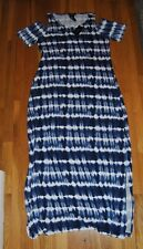NWT Womens DESIGN HISTORY Navy Tie Dye Cold Shoulder Maxi Dress Size Large L